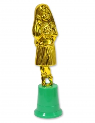 Statuette Hawaïenne Danseuse de Hula dorée 20 cm