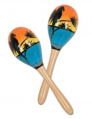 2 Maracas Tropicaux 20 cm
