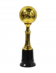 Trophée en plastique Globe doré 21 cm
