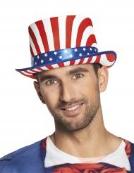 Chapeau haut de forme USA de luxe adulte