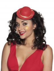 Mini chapeau clown rouge adulte