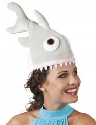 Chapeau petit requin en peluche adulte