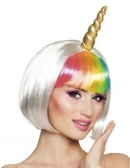 Perruque courte licorne blanche femme