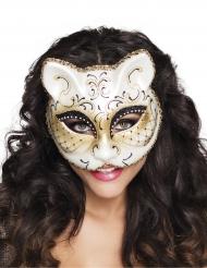 Loup vénitien chat femme