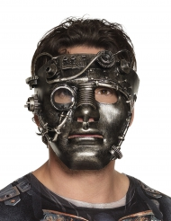 Masque visage chromé Steampunk adulte