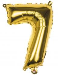 Ballon aluminium chiffre 7 doré 36 cm