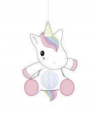 Suspension bébé licorne alvéolée 25 cm