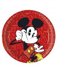 8 Assiettesen carton Mickey™ rétro 23 cm