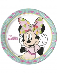 8 Assiettesen carton 23 cm Minnie™ Tropical
