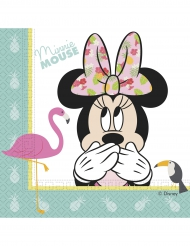 20 Serviettes en papier Minnie™ Tropical 33 x 33 cm