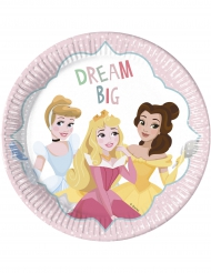 8 Assiettes en carton Princesses Disney™ 23 cm