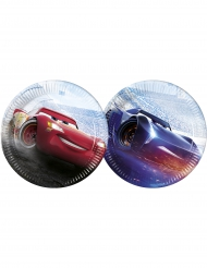 8 Assiettes en carton Cars 3™Flash McQueen & Jackson Storm 23 cm