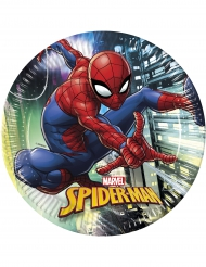 8 Assiettesen carton Spiderman™ 23 cm