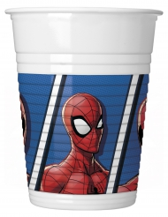 8 Gobelets en plastique Spiderman™ 200 ml