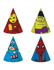 6 chapeaux de fête en carton Avengers™ pop comic