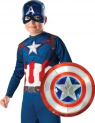 Bouclier en plastique metallisé Captain America™ 30 cm enfant