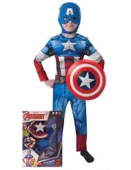 Coffret déguisement Captain America™ avec bouclier garçon