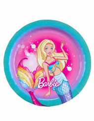 8 Petites assiettes en carton Barbie Dreamtopia™ 18 cm