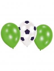 6 Ballons en latex Football 70 cm