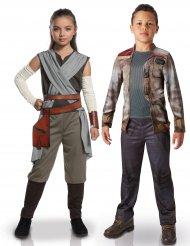 Déguisement couple luxe Rey et Finn enfants -Star Wars™