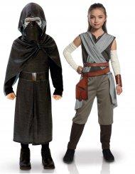 Déguisement de couple Kylo Ren et Rey enfants - Star Wars™