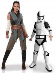 Déguisement de couple Rey et Tango Black Stormtrooper mère et fils -Star Wars™