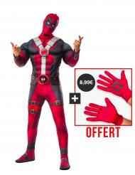Pack déguisement de luxe adulte Deadpool et Gants