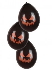 6 Ballons citrouille terrifiante 25 cm