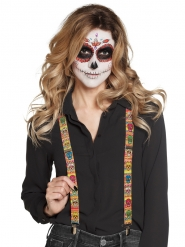 Bretelles mexicaines adulte Dia de los muertos