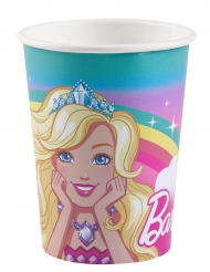 8 Gobelets en carton Barbie Dreamtopia™ 250 ml