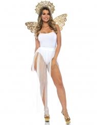 Kit ailes et auréole ange doré adulte