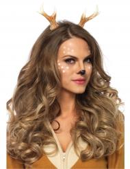Serre-tête cornes de cerf femme