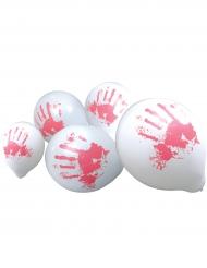 10 Ballons mains ensanglantées 23 cm