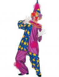 Déguisement clown des étoiles violet adulte