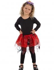 Tutu rouge araignées noir fille