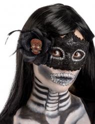 Masque noir en plastiqueDia de los muertos femme