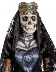 Masque en tissu Dia de los muertos adulte