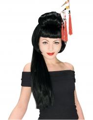 Perruque longue geisha femme