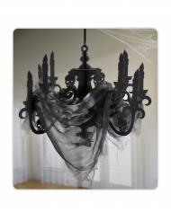 Chandelier noir en carton Maison hantée 41 x 58 cm