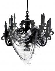 Plafonnier chandelier noir en carton Maison hantée 41 x 58 cm