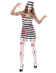 Déguisement prisonnière zombie femme