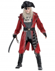 Déguisement pirate zombie rouge homme
