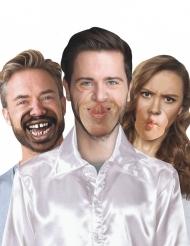 10 fausses bouches en carton humoristique Hipster