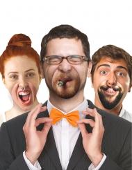 10 fausses bouches en carton humoristique sourire