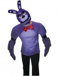 Demi masque en plastique Bonnie™ jeu vidéo Five nights at Freddy