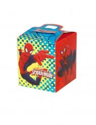 4 Boîtes en carton carrées Spider-man™ 9,5 x 9,5 x 11 cm