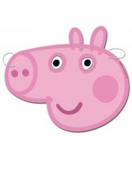 6 Masques en carton Peppa Pig™