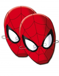 6 Masques en carton Spiderman™