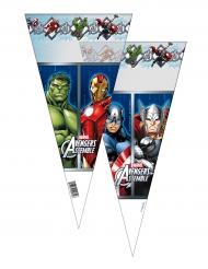 6 Grands Sacs en forme de cône Avengers™ 20 x 40 cm