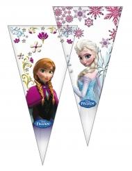 6 Sacs en forme de cône La Reine des Neiges™ 20 x 40 cm